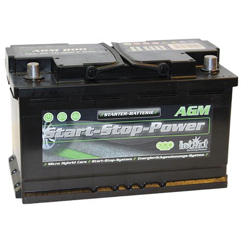 intact start stop agm800 premium autobatterie. Black Bedroom Furniture Sets. Home Design Ideas