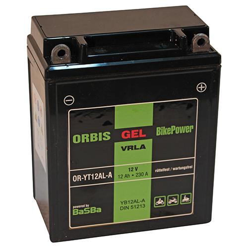 orbis motorradbatterie gel 51213 12ah 12v starterbatterie. Black Bedroom Furniture Sets. Home Design Ideas