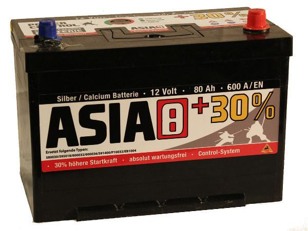 panther asia typ 8 12v 80 ah autobatterie starterbatterie. Black Bedroom Furniture Sets. Home Design Ideas