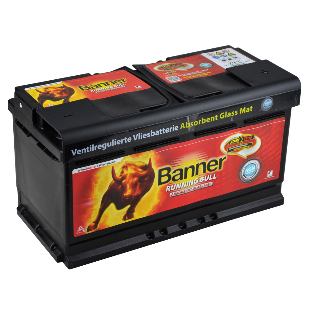 banner running bull agm 92ah 12v car battery start stop. Black Bedroom Furniture Sets. Home Design Ideas