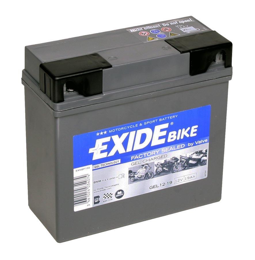 exide 19ah gel motorcycle battery for bmw abs 51913 12v. Black Bedroom Furniture Sets. Home Design Ideas