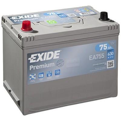 Exide EA755 Premium Asia 75Ah 630A