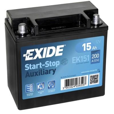 Exide EK151 Start-Stop Auxiliary 15Ah
