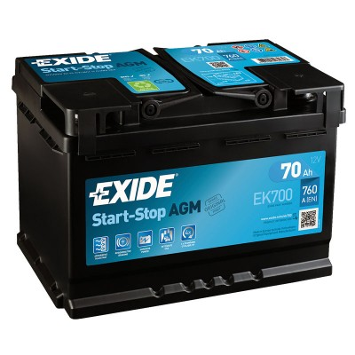 Exide EK700 AGM 70Ah 760A Autobatterie