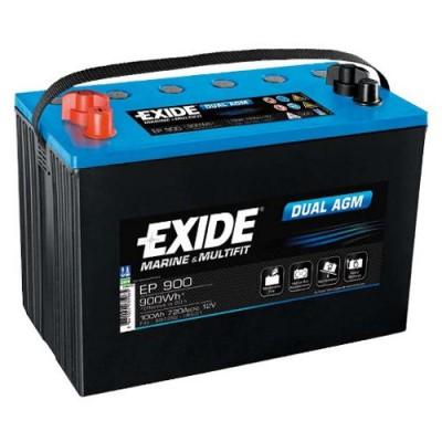 Exide EP900 Dual AGM 100Ah