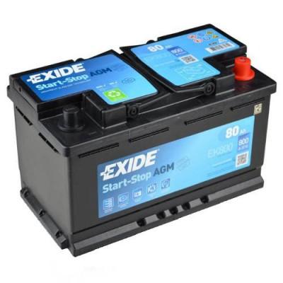 Exide AGM 80Ah EK800