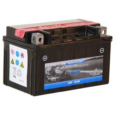Intact 12V 6Ah YTX7A-BS Motorradbatterie AGM 50615