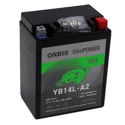 Orbis BikePower GEL YB14L-A2 51411 Motorradbatterie 12V 14Ah