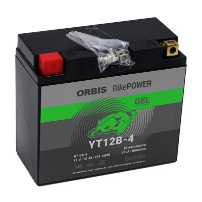 Orbis 12V 10Ah GEL YT12B-4 GT12B-4  Motorradbatterie