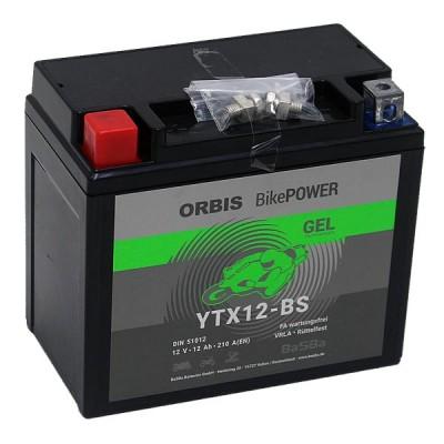 Orbis BikePower GEL YTX12-BS 51012 Motorradbatterie 12V 10Ah