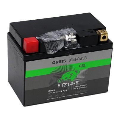 Orbis BikePower GEL YTZ14S (YTZ12S) Motorradbatterie 12V 12Ah
