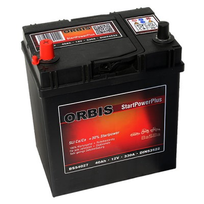 Orbis BS54027 StartPowerPlus Autobatterie 40Ah  Pluspol links