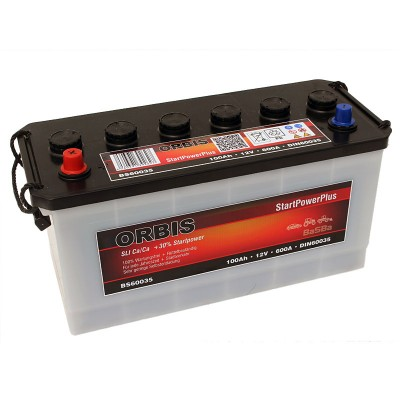 Orbis BS60035 12V 100Ah 600A HD LKW Batterie Pluspol links