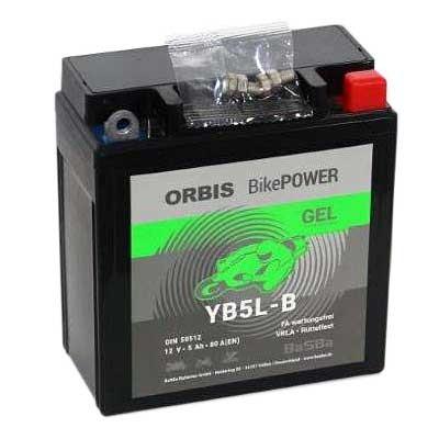 Orbis Motorradbatterie 12V 5Ah Gel YB5L-B GEL12-5L-B