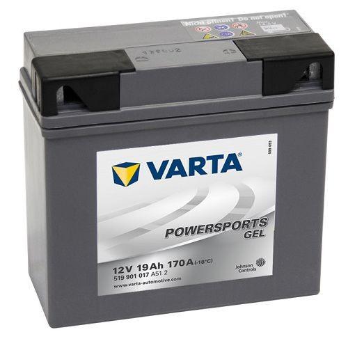 Varta 51913 GEL Motorradbatterie 12V 19Ah