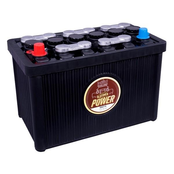 intact oldtimer power 60ah 12v 56014 autobatterie pluspol links. Black Bedroom Furniture Sets. Home Design Ideas