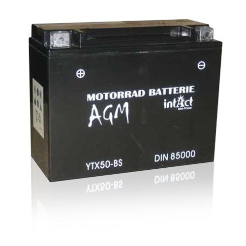 Intact Bike-Power 21Ah AGM Motorradbatterie 85000 YTX50-BS