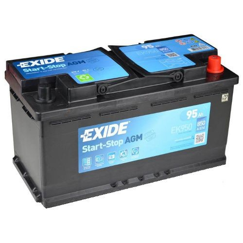 exide agm 95ah ek950 autobatterie g nstig kaufen. Black Bedroom Furniture Sets. Home Design Ideas