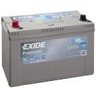 Exide EA955 Premium 95Ah Autobatterie Pluspol links