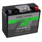 Orbis BikePower GEL Y50-N18L-A 52012 Motorradbatterie 12V 20Ah