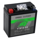 Orbis BikePower GEL YTX14-BS 51214 Motorradbatterie 12V 14Ah