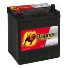 Banner P4027 Power Bull 40Ah 300A Autobatterie Pluspol links