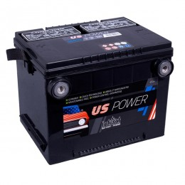 Intact US-Power 60Ah 12V 460A Autobatterie 56010 Pluspol links