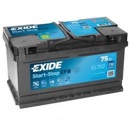 Exide EFB 75Ah EL752 Start-Stop Autobatterie