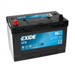Exide EL955 EFB 95Ah 800A 12V Asia Autobatterie Pluspol links