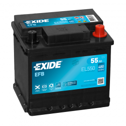 Exide EL550 EFB 55Ah 480A Autobatterie