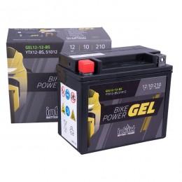 Intact 12V 10Ah 12-12-BS, YTX12-BS Motorradbatterie 51012 Gel FA einsatzbereit