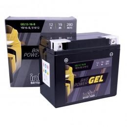 Intact 12V 19Ah 12-16-B, YB16-B Motorradbatterie 51912 Gel FA einsatzbereit