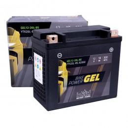Intact 12V 18Ah 12-20L-BS, YTX20L-BS Motorradbatterie 82000 Gel FA einsatzbereit