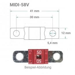 MIDI Sicherung 58V von 50 bis 200A