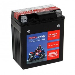 Moll mobike AGM YTX7L-BS 50614 Motorradbatterie 12V 6Ah