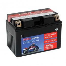 Moll mobike AGM GT12Z-S YTZ12-S Motorradbatterie 12V 11Ah