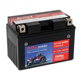 Moll mobike AGM GT14Z-S YTZ14-S Motorradbatterie 12V 11,3Ah