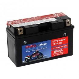 Moll mobike AGM GT7B-4 YT7B-BS Motorradbatterie 12V 5,5Ah