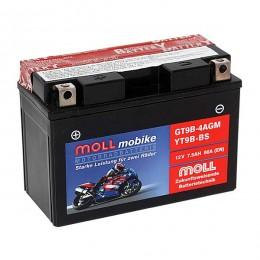 Moll mobike AGM GT9B-4 YT9B-BS Motorradbatterie 12V 7,5Ah