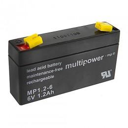 Multipower MP1.2-6 Industrie VRLA Bleiakku 1,2Ah 6V