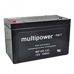 Multipower 12V 100Ah Cyclic MP100-12C AGM Bleiakku