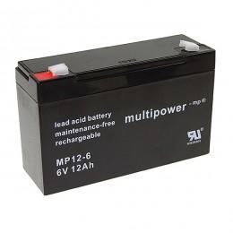 Multipower MP12-6 Bleiakku 12Ah 6V mit 6,3 Faston