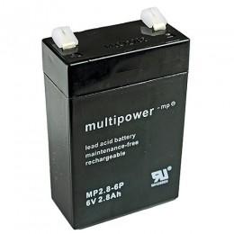 Multipower MP2.8-6P Bleiakku 2,8Ah 6V mit 4,8 Faston