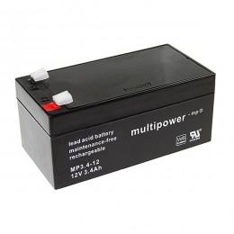 Multipower MP3.4-12 Bleiakku 3,4Ah 12V VdS