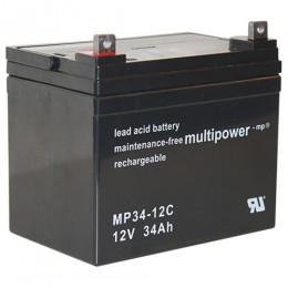 Multipower MP34-12C 12V 34Ah zyklischer Bleiakku
