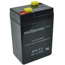 Multipower MP4.5-6 Bleiakku 4,5Ah 6V mit 4,8 Faston