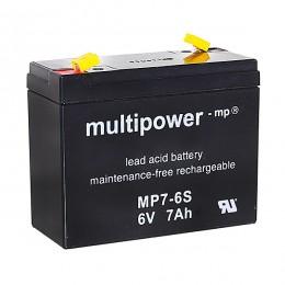 Multipower MP7-6S Bleiakku 7Ah 6V mit 4,8 Faston