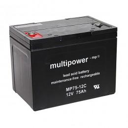 Multipower 12V 75Ah Cyclic MP75-12C AGM Bleiakku