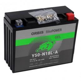 Orbis 12V 20Ah GEL Y50-N18L-A 52012 Motorradbatterie