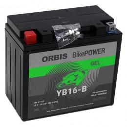 Orbis 12V 19Ah GEL YB16-B 51912 Motorradbatterie